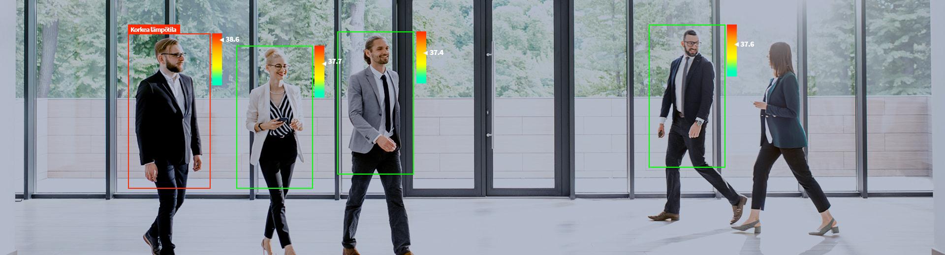 Avarn Securityn ratkaisu kehon lämpötilan mittaamiseen valvontakameralla