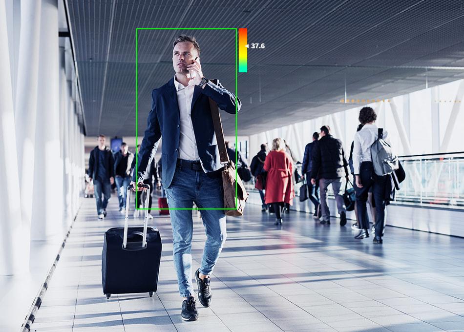 Kehon lämpötila voidaan mitata älykkäällä valvontakameralla