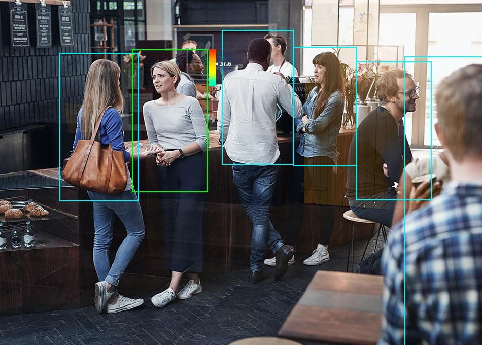 Tiloissa asioivien ihmisten määrää voidaan valvoa älykkään kameravalvonnan avulla