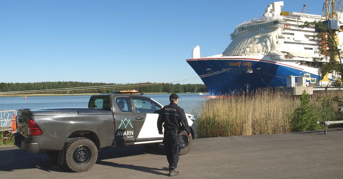 Avarn Security turvaa Turun telakan toimintaa.